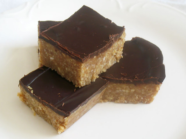 raw peanut butter bars