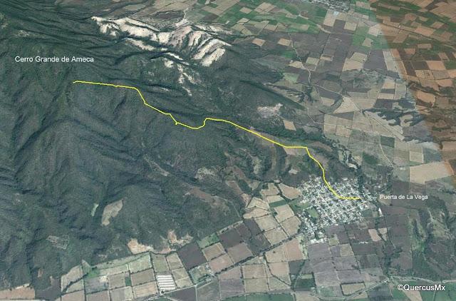 Campamento en el Cerro Grande de Ameca