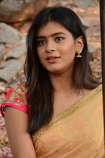 Actress Heba Patel Stills in Half Saree at Nenu Naa Boyfriends Movie Opening  0050.JPG