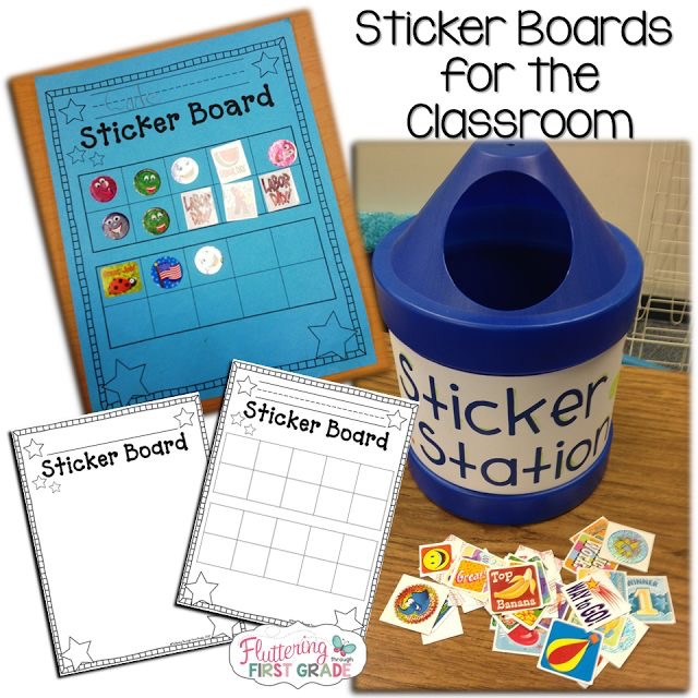 Classroom management. Sticker Boards for the classroom.