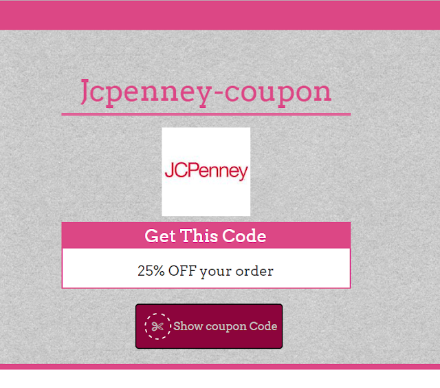 Jcpenney 35% Coupon Code May 2017