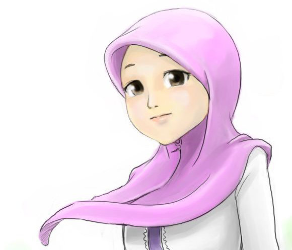 Gambar Kartun Berhijab Cantik: Anisa Blog: Kartun Islam