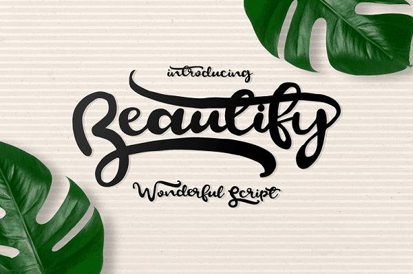Download Font Edisi Februari 2017 - Beautify Script Font