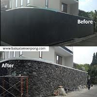 proyek batu alam pagar rumah