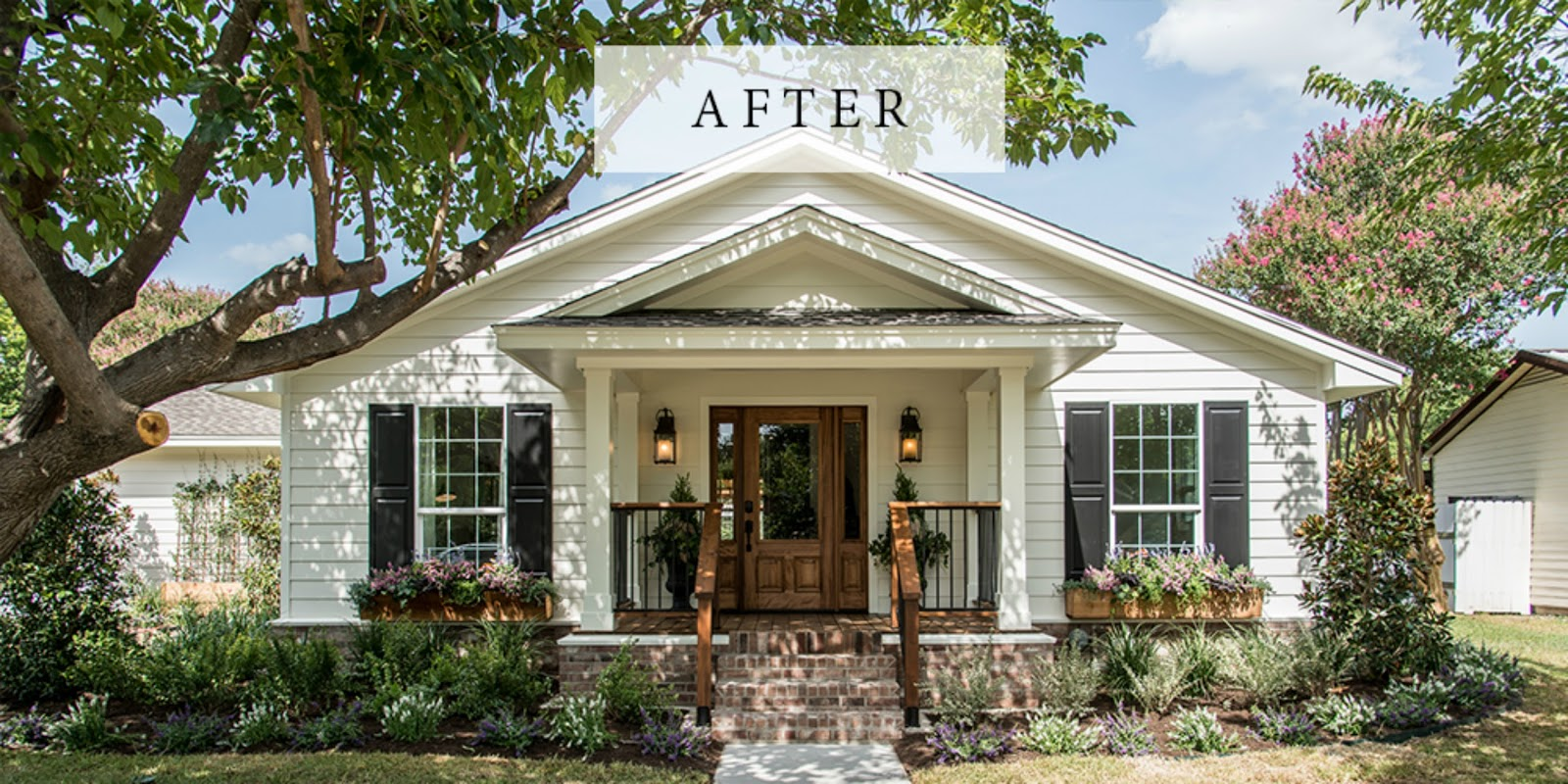 hgtv fixer upper exterior design white black house curb appeal