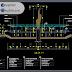 مخطط مشروع نافورة بشكل مميز اوتوكاد dwg