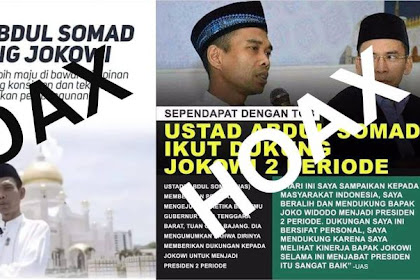 "Lagi! Fitnah Terhadap Ulama! Beredar Kabar Burung ""UAS Dukung Jokowi"""
