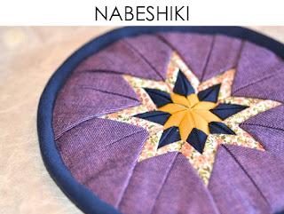 Teekannenuntersetzer Topfuntersetzer Nabeshiki aus japanischen Stoffen von Noriko handmade, japanisch, Japan, handgemacht, Einzelstück, Unikat, Design, Falttechnik, ARD Buffet