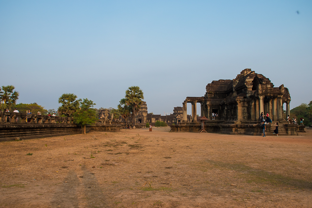 sunrise at angkor wat temple siem reap cambodia