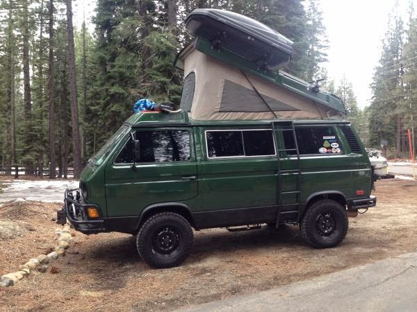 used rvs 1986 westfalia syncro weekender for sale by owner. Black Bedroom Furniture Sets. Home Design Ideas