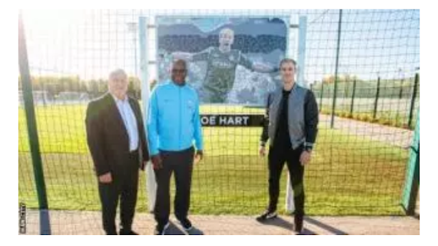 Manchester City dedicates pitch to ex goal keeper, Joe Hart