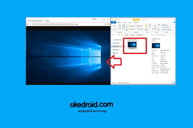 Menggunakan Google Chrome Sebagai Image Viewer