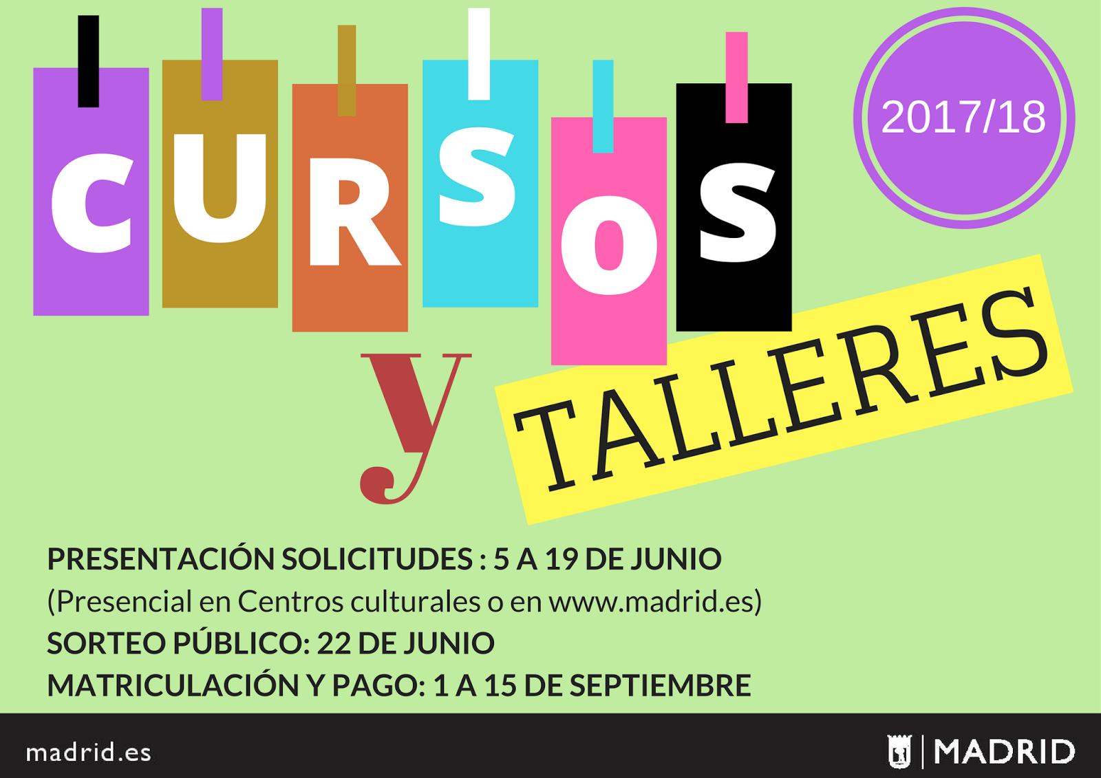 Cursos Y Talleres 2017 18 Vicalv Blog Distrito Vic Lvaro ~ Cursos De Manualidades En Madrid