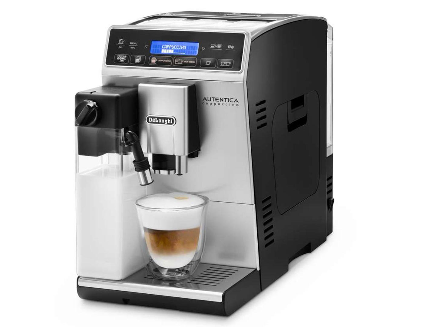 review de longhi autentica cappuccino bean to cup coffee machine the test pit. Black Bedroom Furniture Sets. Home Design Ideas