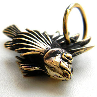 купить бронзовые ювелирные изделия из бронзы кулон рыба ерш подарок рыбаку