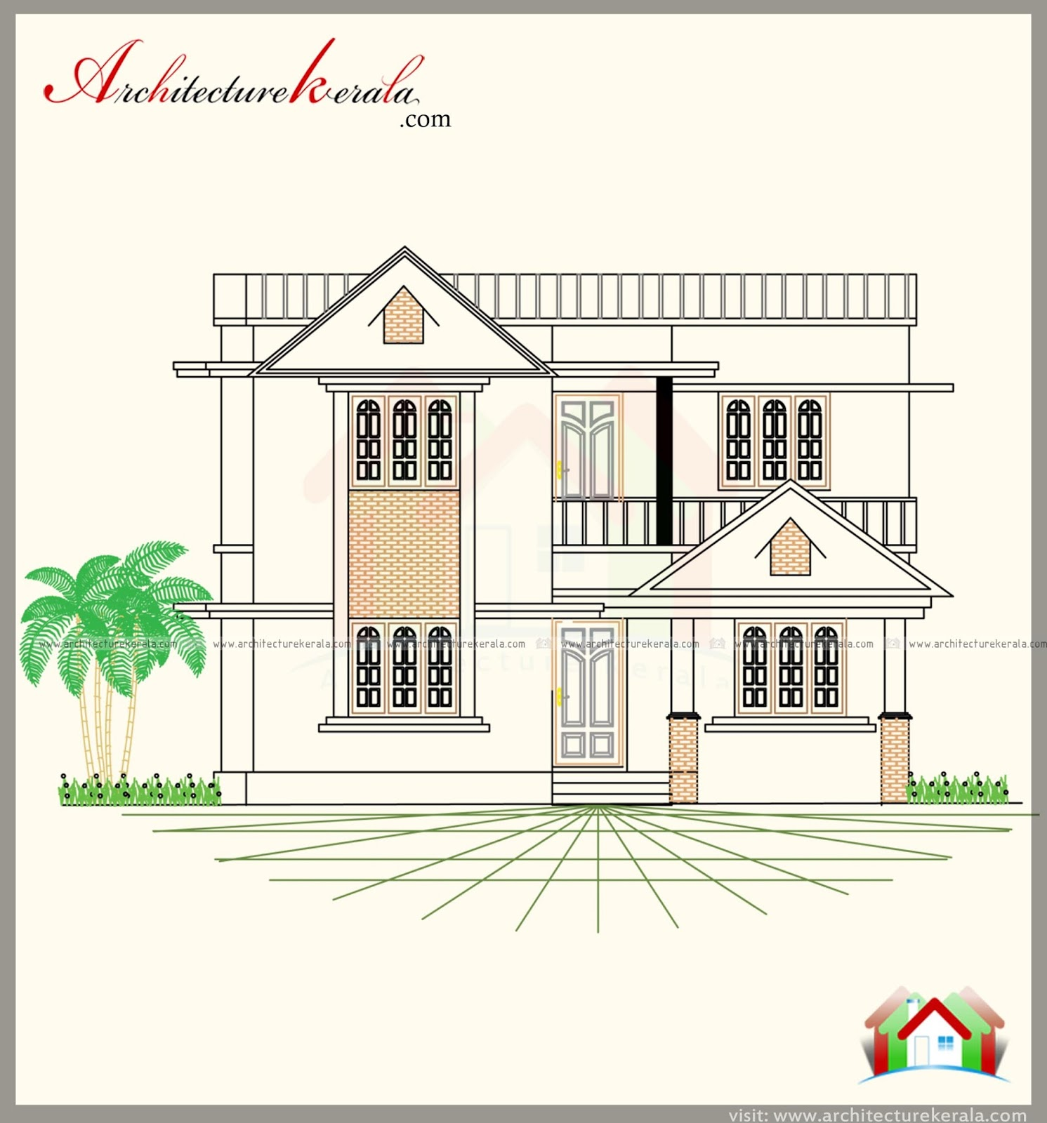 MODERN STYLE HOUSE PLAN AND TWO DIFFERENT ELEVATIONS