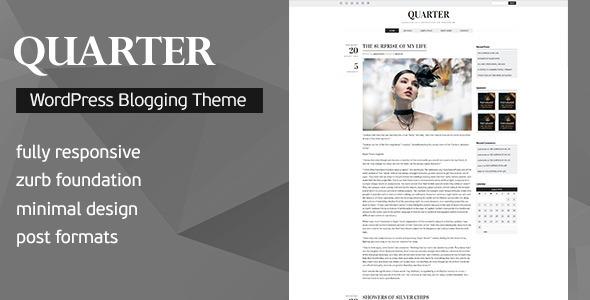 Quarter Responsive WordPress Blogging Theme Download
