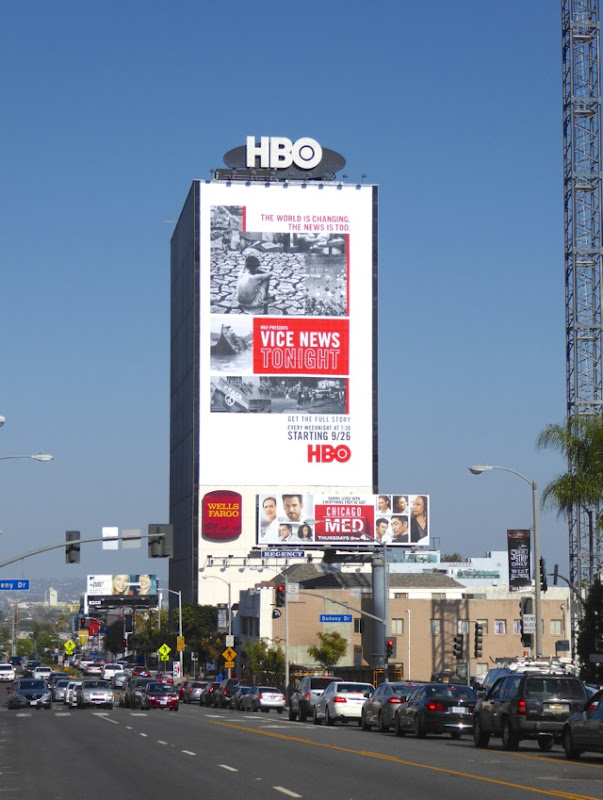 Giant Vice News Tonight HBO series billboard