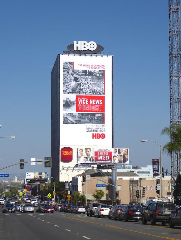 Giant Vice News Tonight HBO series billboard