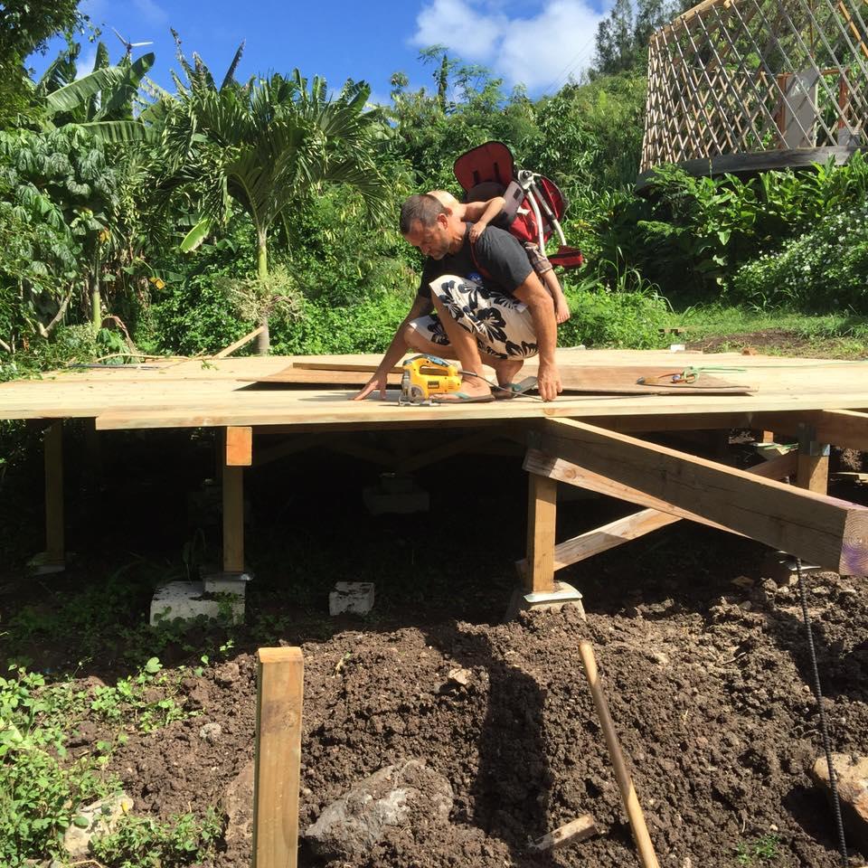 Yurt Living Groundwork Foundation On Island Hawaii