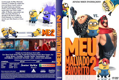 Filme Meu Malvado Favorito 2 DVD Capa
