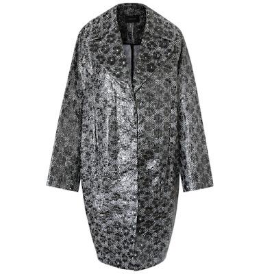 simone rocha laminated coat