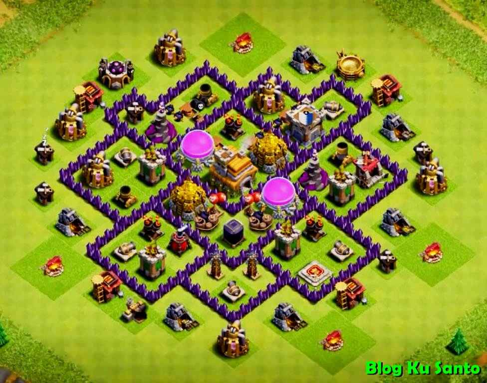 Pertahanan Base Coc Th 7 Terkuat 8