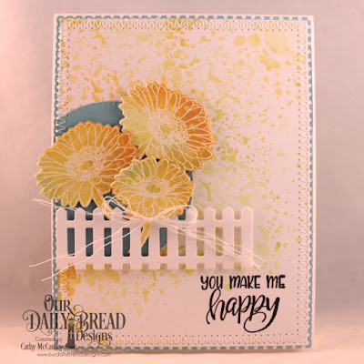 Our Daily Bread Designs Stamp/Die Duos: Call to Me, Paper Collection: Birthday Brights, Custom Dies: Pierced Rectangles, Pierced Circles, Fence
