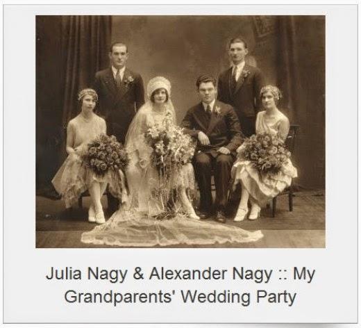 julia kovach and alexander nagy wedding party october 1928