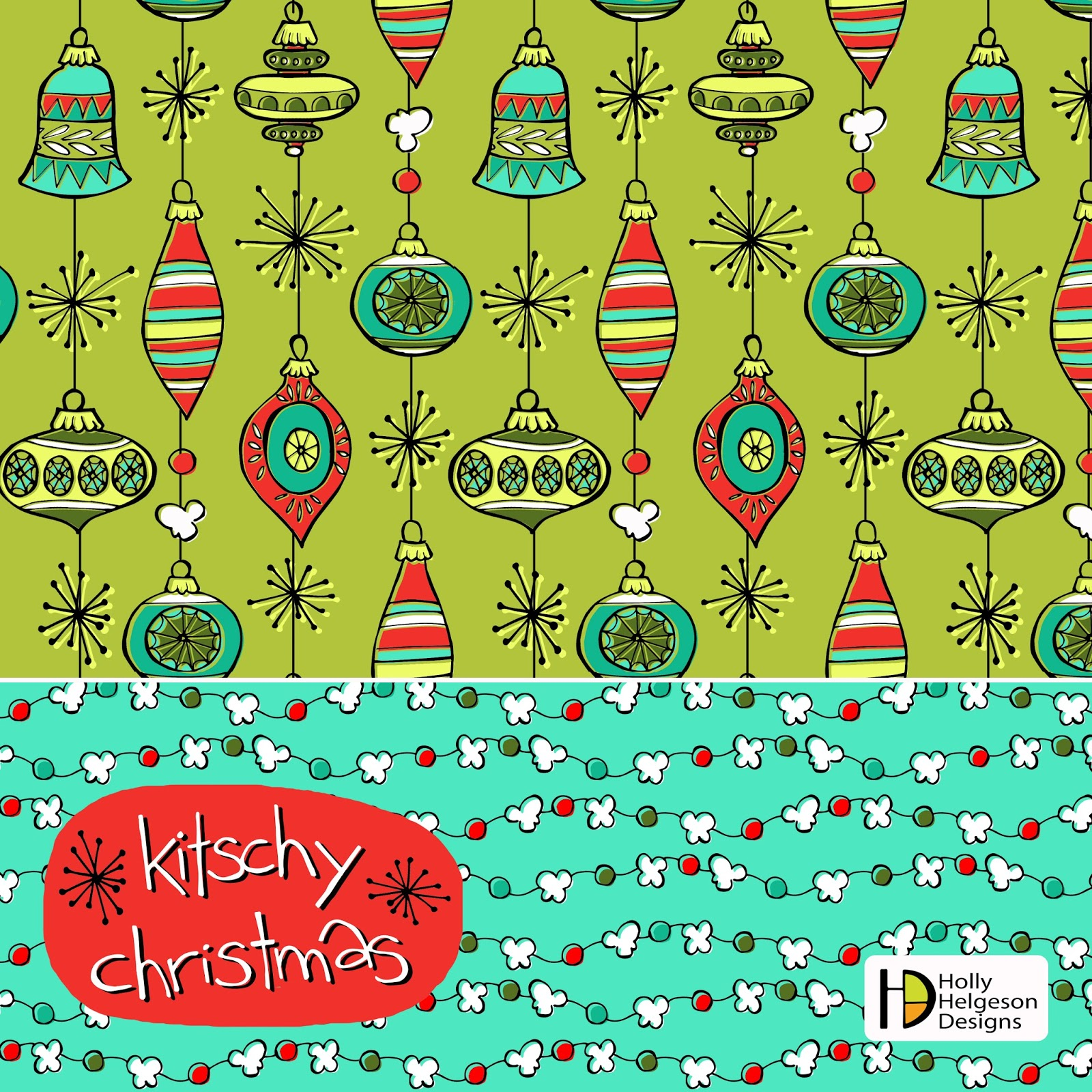 Holly Helgeson: Kitschy Christmas...Did someone say POPCORN?!