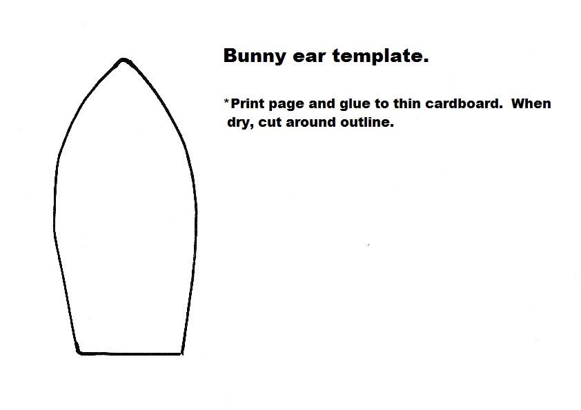 bunny ear template bunny ear template feat felt bunny template free