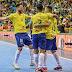 Mesmo sem Falcão, Brasil vence Polônia em amistoso de futsal