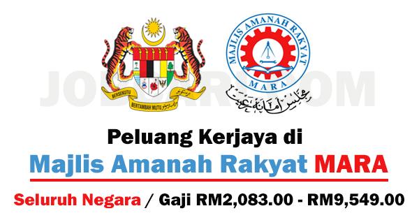 Jawatan Kosong Terbaru Di Majlis Amanah Rakyat Mara Seluruh Negara Gaji Rm2 083 00 Rm9 549 00 Jobcari Com Jawatan Kosong Terkini