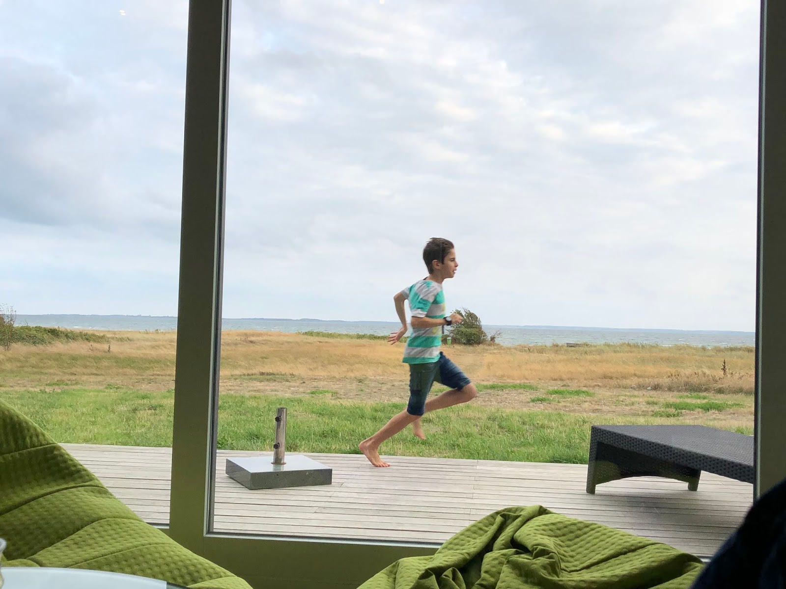 Unser Jakob macht Freudensprünge in Dänemark am Meer