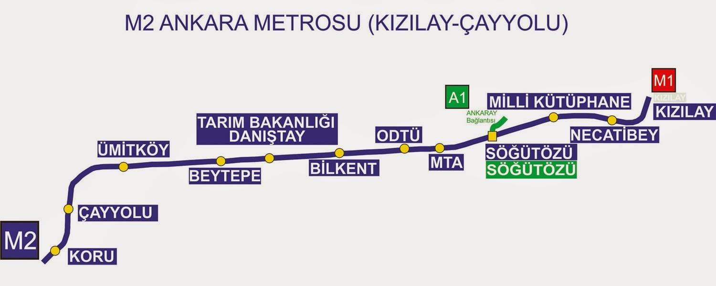 Ankara Metrosu 2 Haritası
