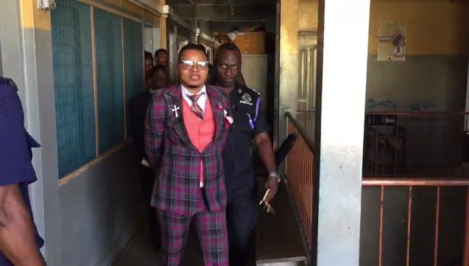 Video: Bishop Obinim Handcuffed For Flogging Two Teenagers In Church