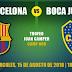Barcelona vs Boca Juniors: A qué hora jugan y Cómo ver el Partido EN VIVO por Televisión