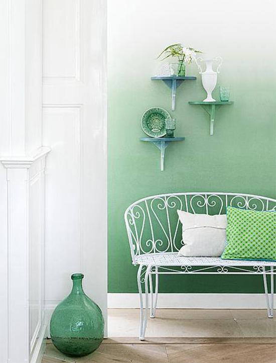 parede verde, green wall, parede colorida, pintar parede, a casa eh sua, acasaehsua, decoração, decor, parede ombré, pintura degradê