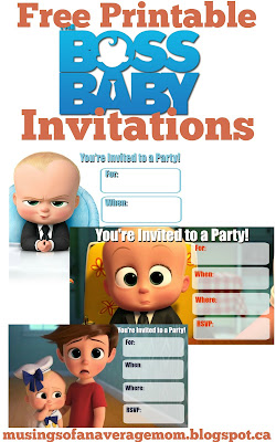 free boss baby invites,