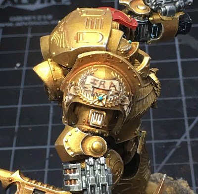 Legio Custodes Contemptor-Achillus Dreadnought WIP right should scroll