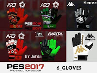 PES 2017 Gloves Pack V6 dari Jet'da
