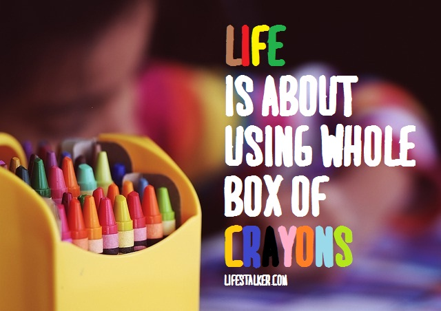 Life Is Like A Box Of Crayons : Life Stalker