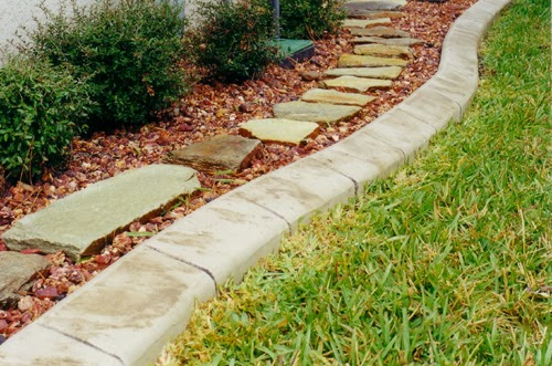 pierre pour bordure de jardin