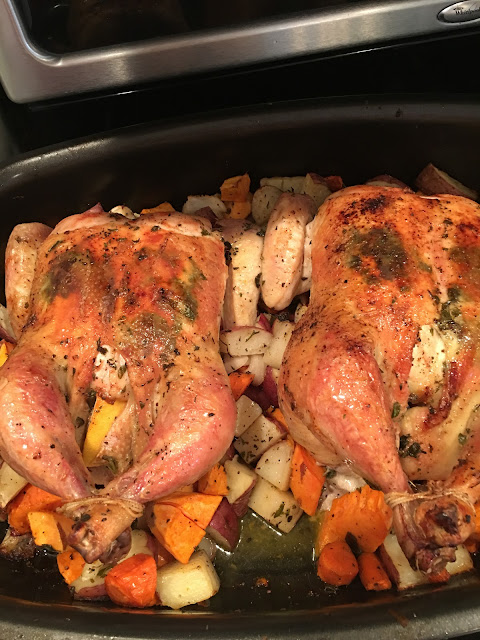 Roasted chickens and vegetables, Sunday Dinner- The Style Sisters