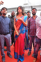 Puja Hegde looks stunning in Red saree at launch of Anutex shopping mall ~ Celebrities Galleries 114.JPG