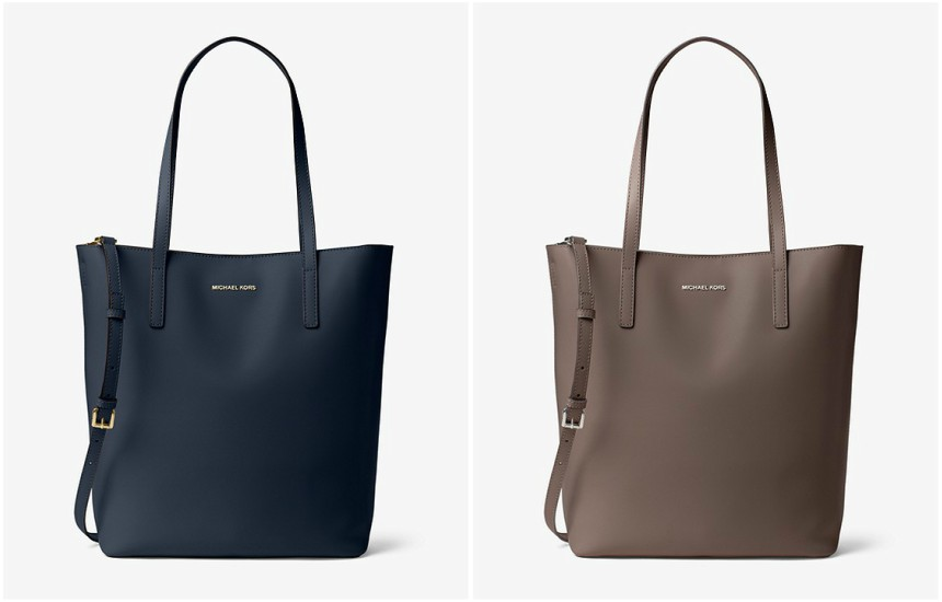 Emry Large Leather Totes in navy or taupe for only $89 (reg $298)