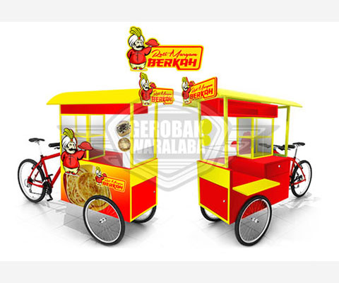gerobak sepeda roti maryam berkah bandung