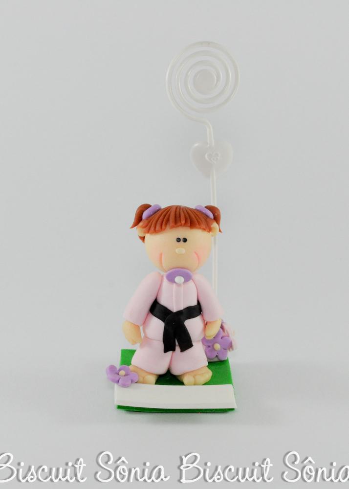 lembrancinha de nascimento biscuit menina de kimono