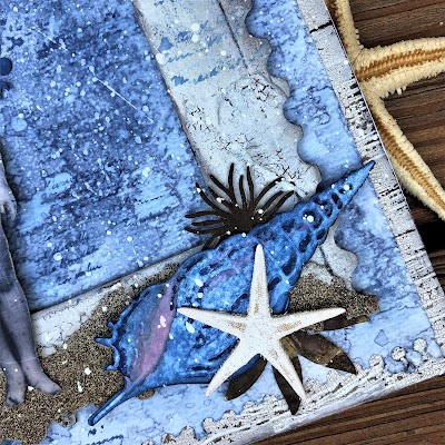 Sara Emily Barker http://sarascloset1.blogspot.com/ One Last Beach Day Shabby Card #timholtz #sizzixalterations #stampersanonymous #rangerdistress 4