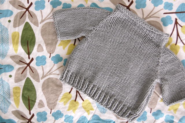 5f89b2845 I ve decided that this is quite possibly the perfect simple baby sweater  pattern. I m thinking simple is good